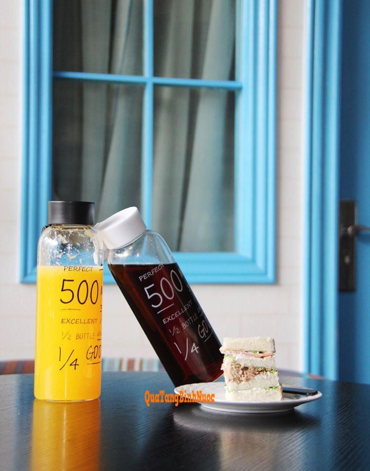 Bình nước nhựa giá rẻ 500ml in logo Q011 5