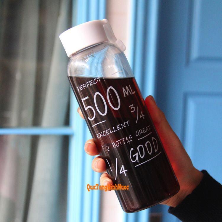 Bình nước 500ml nhựa giá rẻ in logo Q011 7