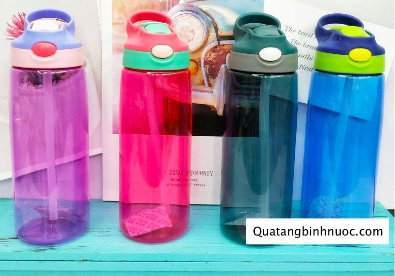 Bình Nước Nhựa Tritan Có Ống Hút Q077 1